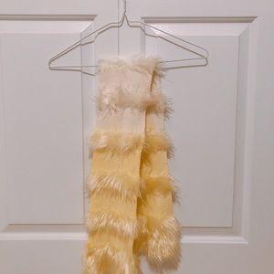 Accessories - Soft Yellow&White Gradient Scarf